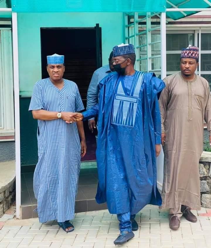 Zamfara: Matawalle visits Senator Marafa's residence